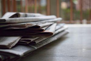 Huis-aan-huisbladen in zwaar weer